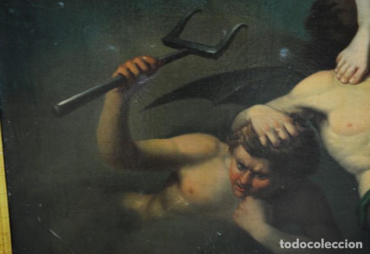 Arte: ÓLEO SOBRE LIENZO ARCÁNGEL SAN MIGUEL, S.XVIII - Foto 14 - 158143386