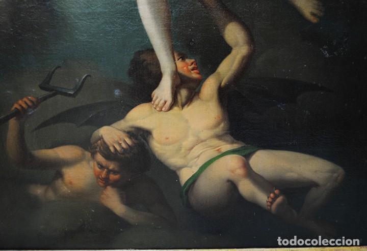 Arte: ÓLEO SOBRE LIENZO ARCÁNGEL SAN MIGUEL, S.XVIII - Foto 15 - 158143386