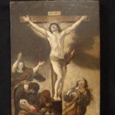 Arte: ESCENA DE LA CRUCIFIXIÓN DE JESUCRISTO. ÓLEO SOBRE TABLA. ESCUELA FLAMENCA DEL SIGLO XVII.. Lote 158171946
