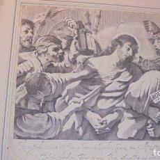 Arte: ANTIGUO GRABADO 1621- LA CATTURA DI CRISTO NELL' ORTO , PASCUALINI GIOVANNI BATTISTA INCS. BARBIERE . Lote 158280706