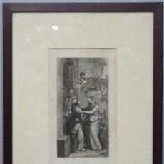 Arte: GRABADO VISITACION DE FRANCISCO BAYEU. JOSEPH CAMARON (1760-1819). 1795. Lote 158546330