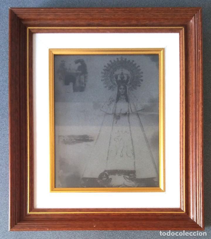 LÁMINA TRANSPARENTE ENMARCADA VIRGEN DEL ROCIO (Arte - Arte Religioso - Pintura Religiosa - Otros)