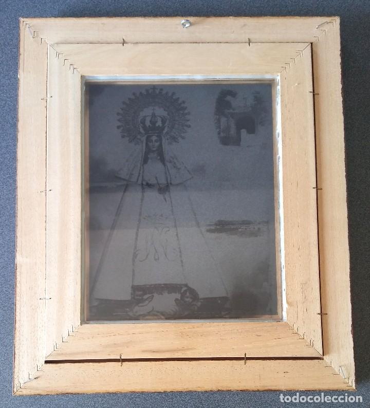 Arte: Lámina transparente enmarcada Virgen del Rocio - Foto 2 - 158555482
