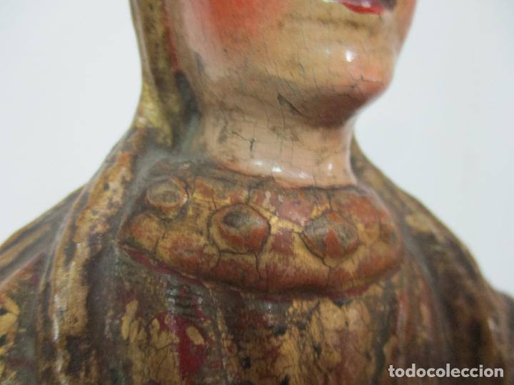 Arte: Preciosa Virgen Purísima - Escuela Catalana - Talla de Madera Policromada y Dorada - S. XVI-XVII - Foto 17 - 158630290