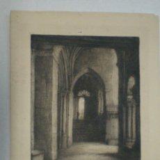 Arte: GRABADO IGLESIA, CATEDRAL, FIRMADO MONTESA. Lote 158737174