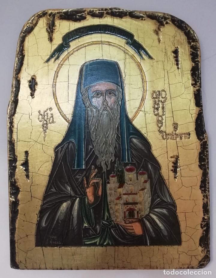 ICONO GRIEGO. TRAÍDO DE GRECIA. NUMERADO. MUY BUEN ESTADO. (Arte - Arte Religioso - Iconos)