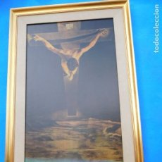 Arte: CRISTO DE DALÍ, CON PAPARTÚ, MEDIDAS DE 84 X 53 CM. Lote 158331946