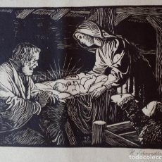 Arte: H. SCHROEDTER, SAGRADA FAMILIA, XILOGRAFÍA FIRMADA, 1907. Lote 158919218