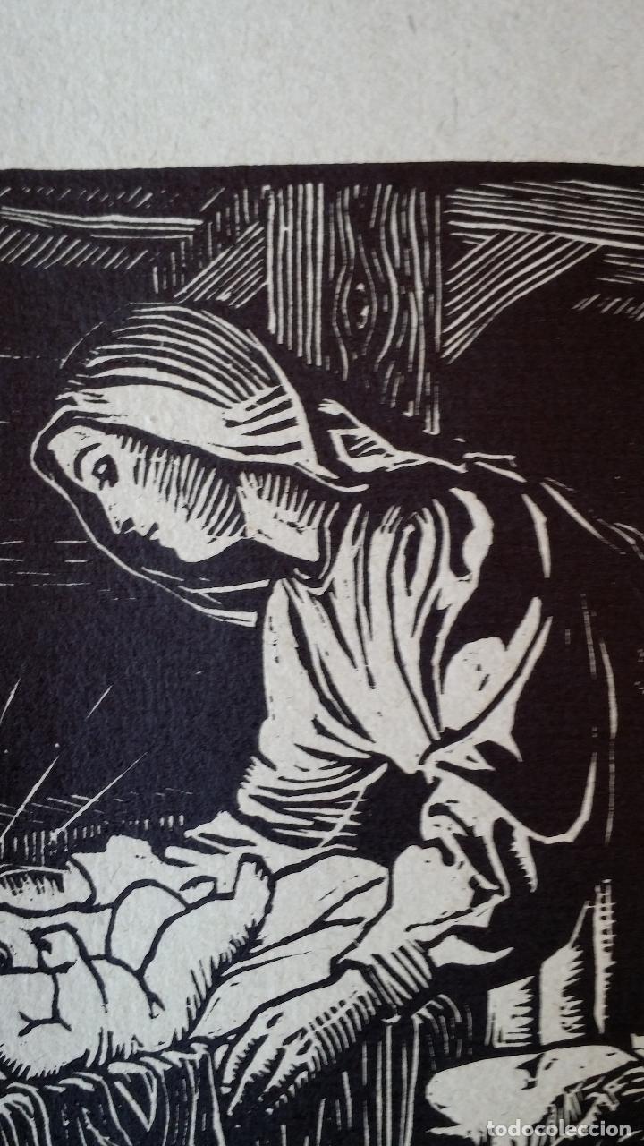Arte: H. Schroedter, SAGRADA FAMILIA, xilografía firmada, 1907 - Foto 8 - 158919218