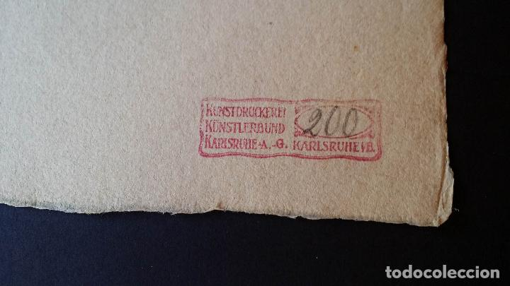 Arte: H. Schroedter, SAGRADA FAMILIA, xilografía firmada, 1907 - Foto 12 - 158919218