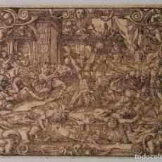 Arte: JOST AMMAN, MARTIRIO DE LOS CRISTIANOS, XILOGRAFÍA, 1570-75. Lote 158921146