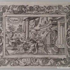 Arte: MATEO EVANGELISTA, XILOGRAFÍA DE 1560. Lote 158921862
