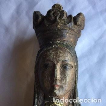 Arte: Virgen con Niño, Talla de madera policromada. 35cm. - Foto 3 - 158937962
