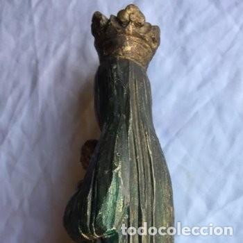 Arte: Virgen con Niño, Talla de madera policromada. 35cm. - Foto 5 - 158937962