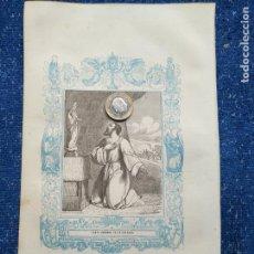 Arte: REF: KK - AÑO 1851 ORIGINAL GRABADO DE LA EPOCA RELIGIOSO - SANTO DOMINGO DE LA CALZADA. Lote 158982386