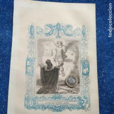 Arte: REF: KK - AÑO 1851 ORIGINAL GRABADO DE LA EPOCA RELIGIOSO - LA APARICION DE SAN MIGUEL ARCANGEL. Lote 158982718