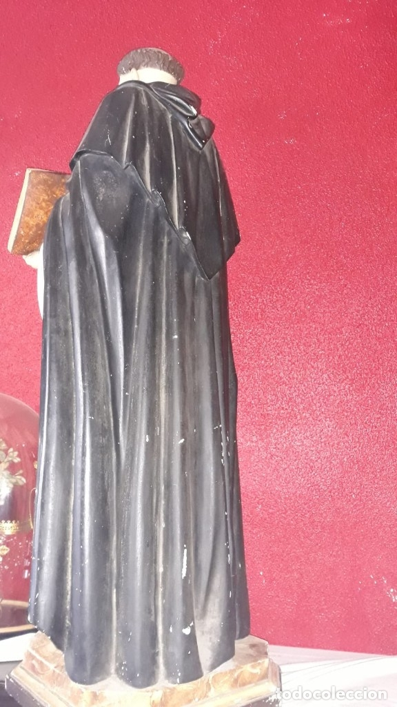 Arte: talla de santo tomas de aquino princios siglo xx - Foto 8 - 40480394