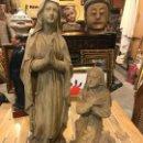 Arte: MARAVILLOSA VIRGEN DE LOURDES Y BERNARDETTE EN TERRACOTA. Lote 159134398