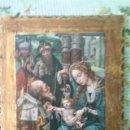 Arte: ADORACIÓN DE LOS REYES MAGOS AL NIÑO Y LA VIRGEN, LAMINA PEGADA EN TABLA. Lote 159220430