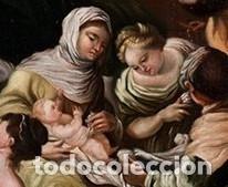 Arte: NACIMIENTO DE LA VIRGEN PINTURA ÓLEO / LIENZO DEL SIGLO XVIII. - Foto 4 - 142186105