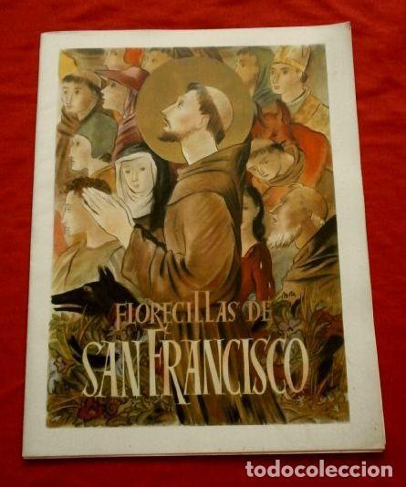 FLORECILLAS DE SAN FRANCISCO ALBUM DOSSIER CON LAMINAS ILUSTRADAS POR E. MORA - FRANCISCO DE ASIS (Arte - Arte Religioso - Pintura Religiosa - Otros)