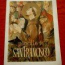 Arte: FLORECILLAS DE SAN FRANCISCO ALBUM DOSSIER CON LAMINAS ILUSTRADAS POR E. MORA - FRANCISCO DE ASIS. Lote 159379398