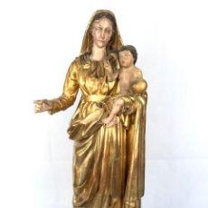 Arte: TALLA DE ALTAR VIRGEN CON NIÑO SIGLO XVIII. Lote 155951838