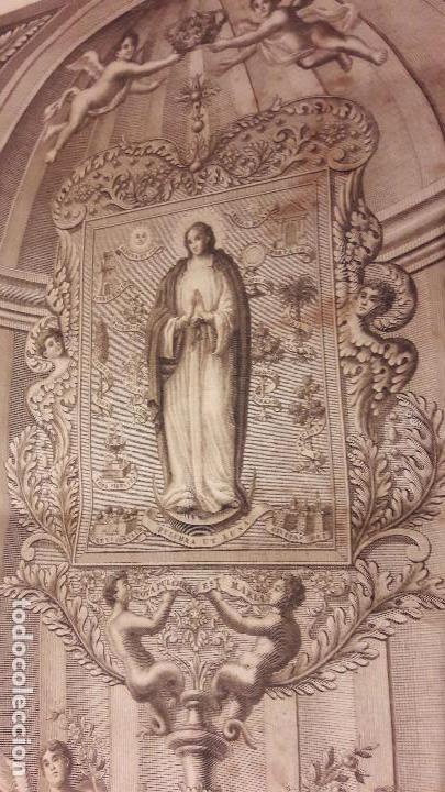 GRABADO ROCAFORT INMÁCULADA CONCEPCION BENIASA ( ALICANTE )1840 (Arte - Arte Religioso - Grabados)