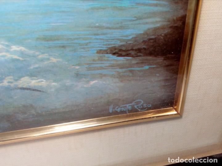 Arte: LÁMINA EN RELIEVE ENMARCADA DEL CRISTO DE VICENTE ROSO (42 CM ALTO POR 34 ANCHO) - Foto 3 - 159565254