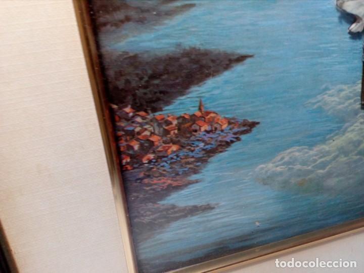Arte: LÁMINA EN RELIEVE ENMARCADA DEL CRISTO DE VICENTE ROSO (42 CM ALTO POR 34 ANCHO) - Foto 5 - 159565254