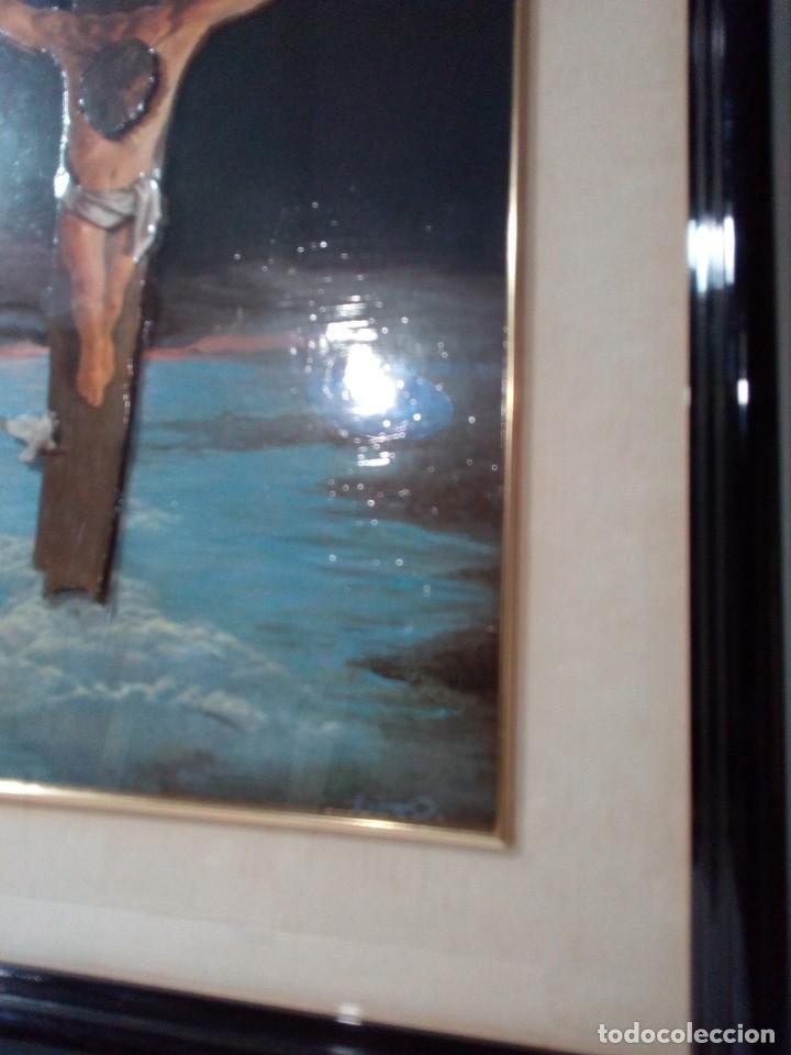 Arte: LÁMINA EN RELIEVE ENMARCADA DEL CRISTO DE VICENTE ROSO (42 CM ALTO POR 34 ANCHO) - Foto 7 - 159565254