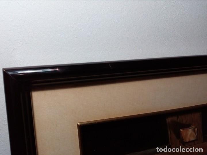 Arte: LÁMINA EN RELIEVE ENMARCADA DEL CRISTO DE VICENTE ROSO (42 CM ALTO POR 34 ANCHO) - Foto 14 - 159565254