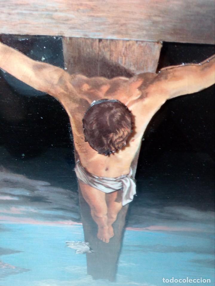 Arte: LÁMINA EN RELIEVE ENMARCADA DEL CRISTO DE VICENTE ROSO (42 CM ALTO POR 34 ANCHO) - Foto 15 - 159565254