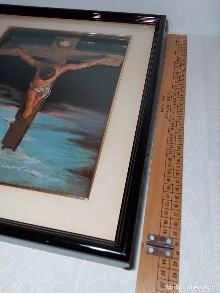 Arte: LÁMINA EN RELIEVE ENMARCADA DEL CRISTO DE VICENTE ROSO (42 CM ALTO POR 34 ANCHO) - Foto 16 - 159565254