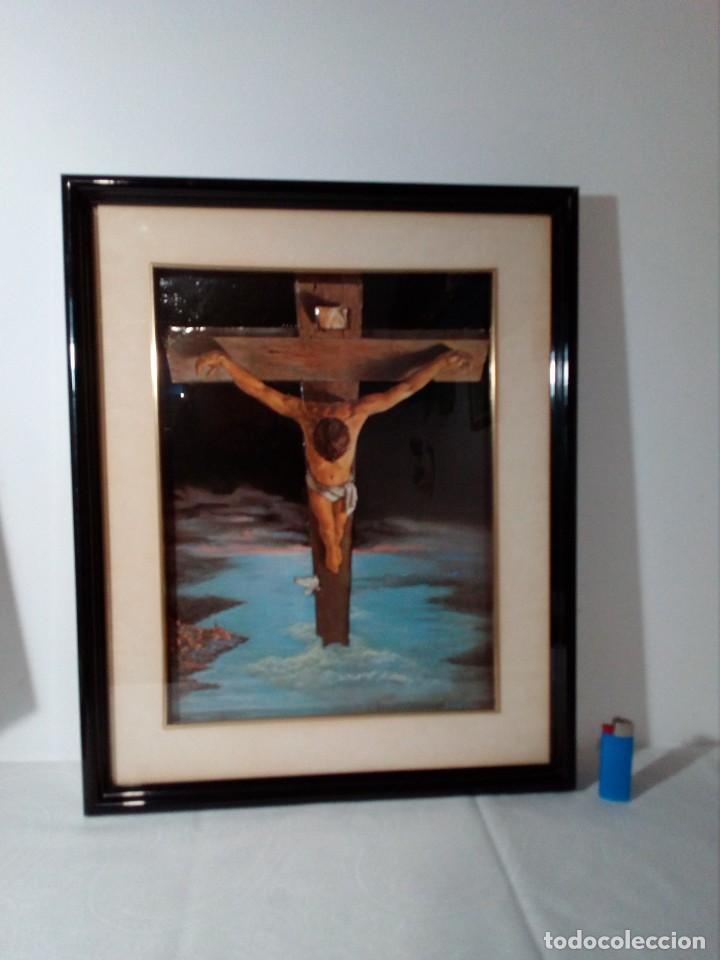 Arte: LÁMINA EN RELIEVE ENMARCADA DEL CRISTO DE VICENTE ROSO (42 CM ALTO POR 34 ANCHO) - Foto 18 - 159565254