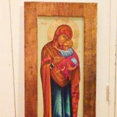 Arte: ICONO VIRGEN MARÍA Y NIÑO JESUS. Lote 159568314
