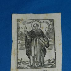 Arte: GRABADO S.XVIII SANT VICENS FERRER , 15X10,5 CM, SEÑALES DE USO. Lote 159626362