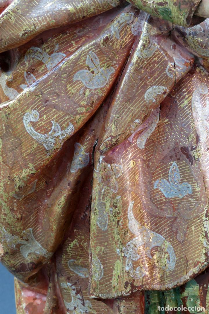 Arte: Talla San Pablo en madera estofada dorada policromada seguidor Gregorio Fernández siglo XVI - Foto 7 - 159655670