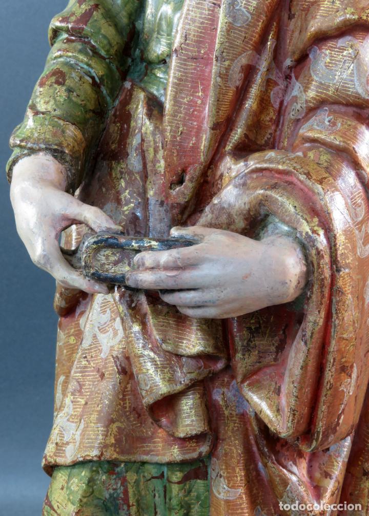 Arte: Talla San Pablo en madera estofada dorada policromada seguidor Gregorio Fernández siglo XVI - Foto 15 - 159655670