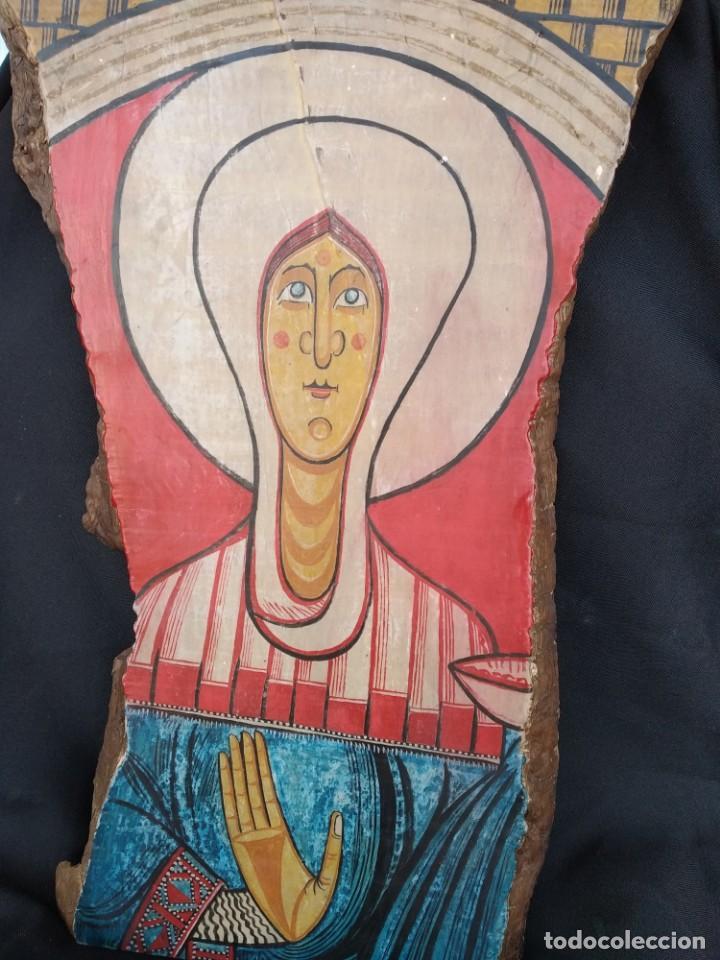RETABLO DE SANTA LUCIA. PINTADO SOBRE TABLA. FIRMADO (Arte - Arte Religioso - Retablos)