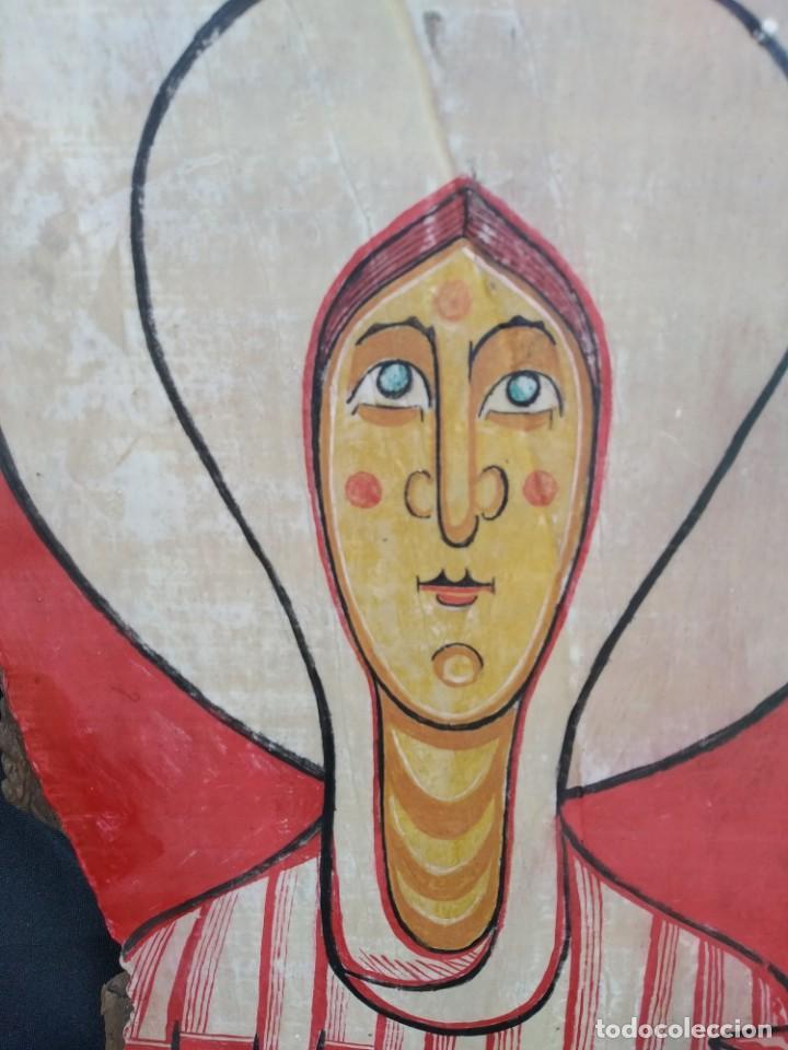 Arte: RETABLO DE SANTA LUCIA. PINTADO SOBRE TABLA. FIRMADO - Foto 2 - 159704566