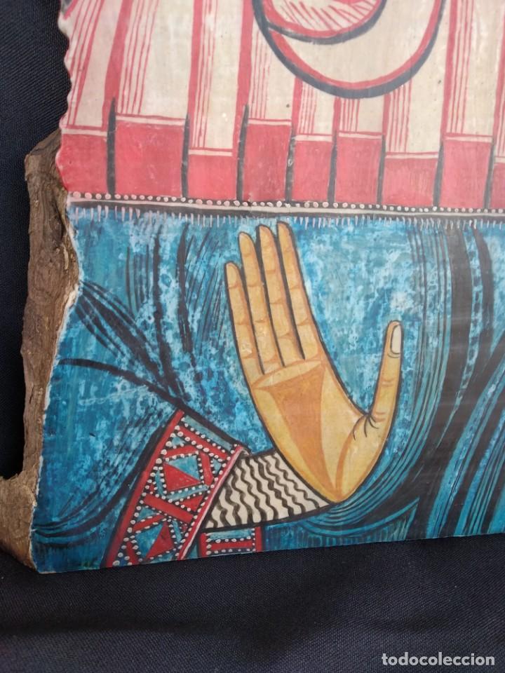 Arte: RETABLO DE SANTA LUCIA. PINTADO SOBRE TABLA. FIRMADO - Foto 3 - 159704566