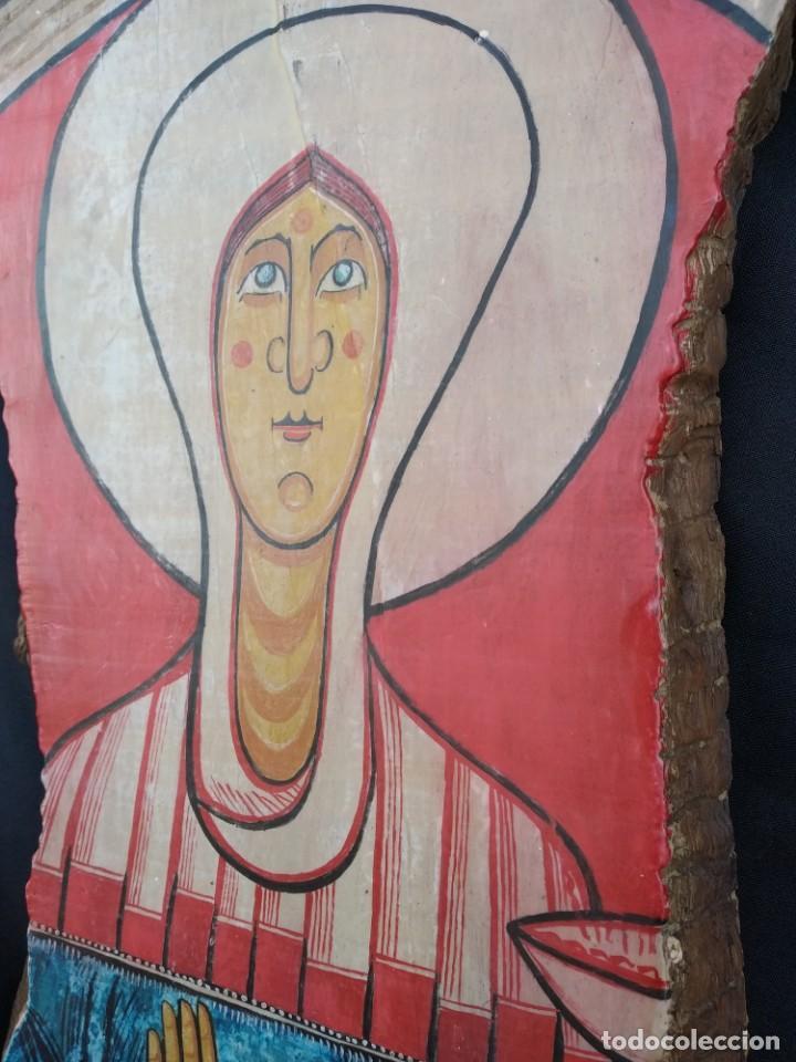 Arte: RETABLO DE SANTA LUCIA. PINTADO SOBRE TABLA. FIRMADO - Foto 5 - 159704566