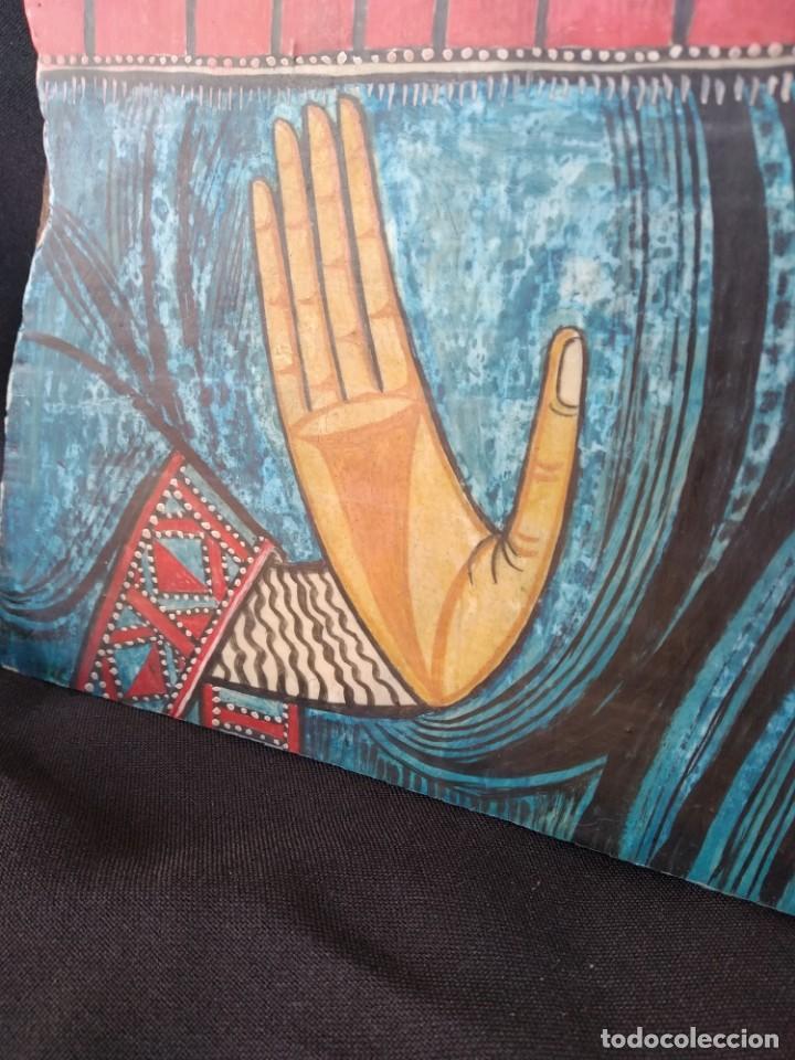 Arte: RETABLO DE SANTA LUCIA. PINTADO SOBRE TABLA. FIRMADO - Foto 6 - 159704566
