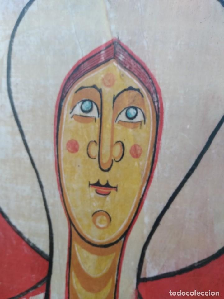 Arte: RETABLO DE SANTA LUCIA. PINTADO SOBRE TABLA. FIRMADO - Foto 7 - 159704566