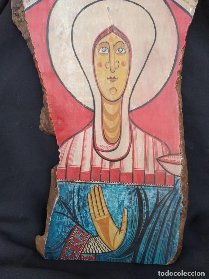 Arte: RETABLO DE SANTA LUCIA. PINTADO SOBRE TABLA. FIRMADO - Foto 11 - 159704566