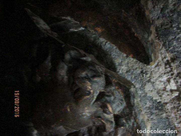 Arte: RETABLO RELIGIOSO DE ESTUCO DE YESO O ESCAYOLA ANGEL MUY PESADO CON MADERA EN REVERSO INCRUSTADO - Foto 10 - 144594262