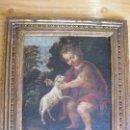 Arte: SAN JUANITO - ESCUELA ANDALUZA - MARCO DE EPOCA SIGLO XVII. Lote 159747566
