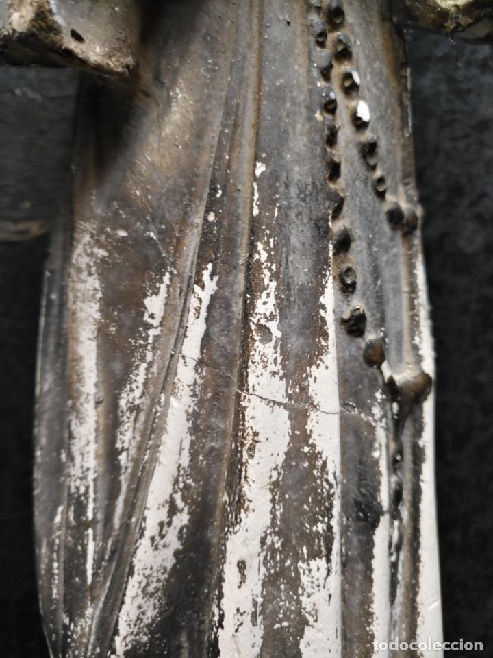 Arte: gran ESCULTURA OLOT O SIMILAR CON SELLO , SANTA RITA DE CASIA - VERTOS 42 CM - Foto 13 - 159849690