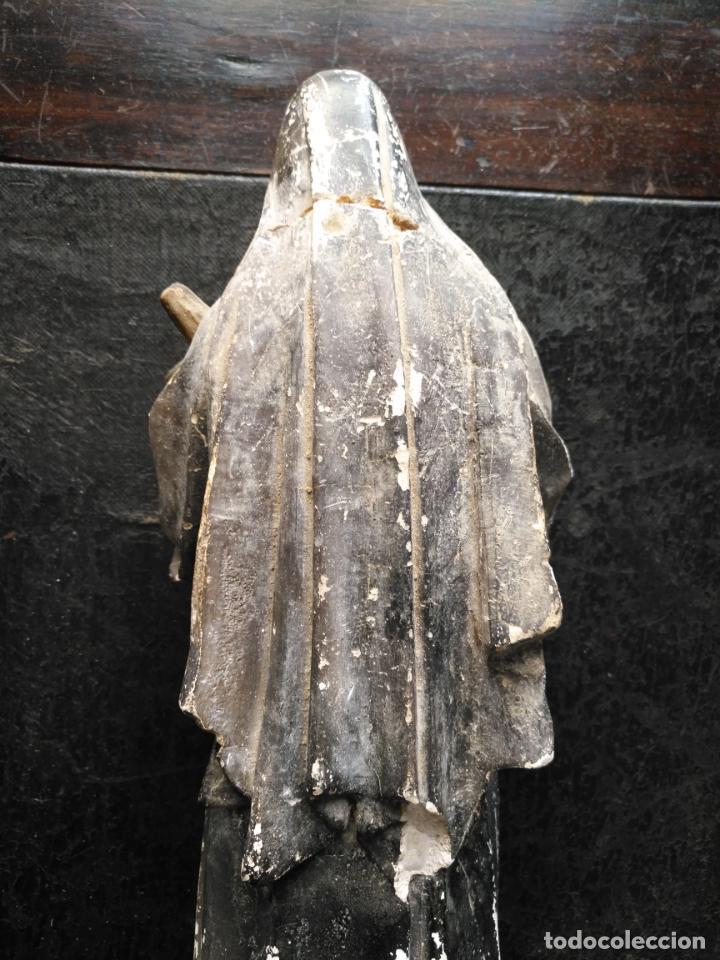 Arte: gran ESCULTURA OLOT O SIMILAR CON SELLO , SANTA RITA DE CASIA - VERTOS 42 CM - Foto 16 - 159849690